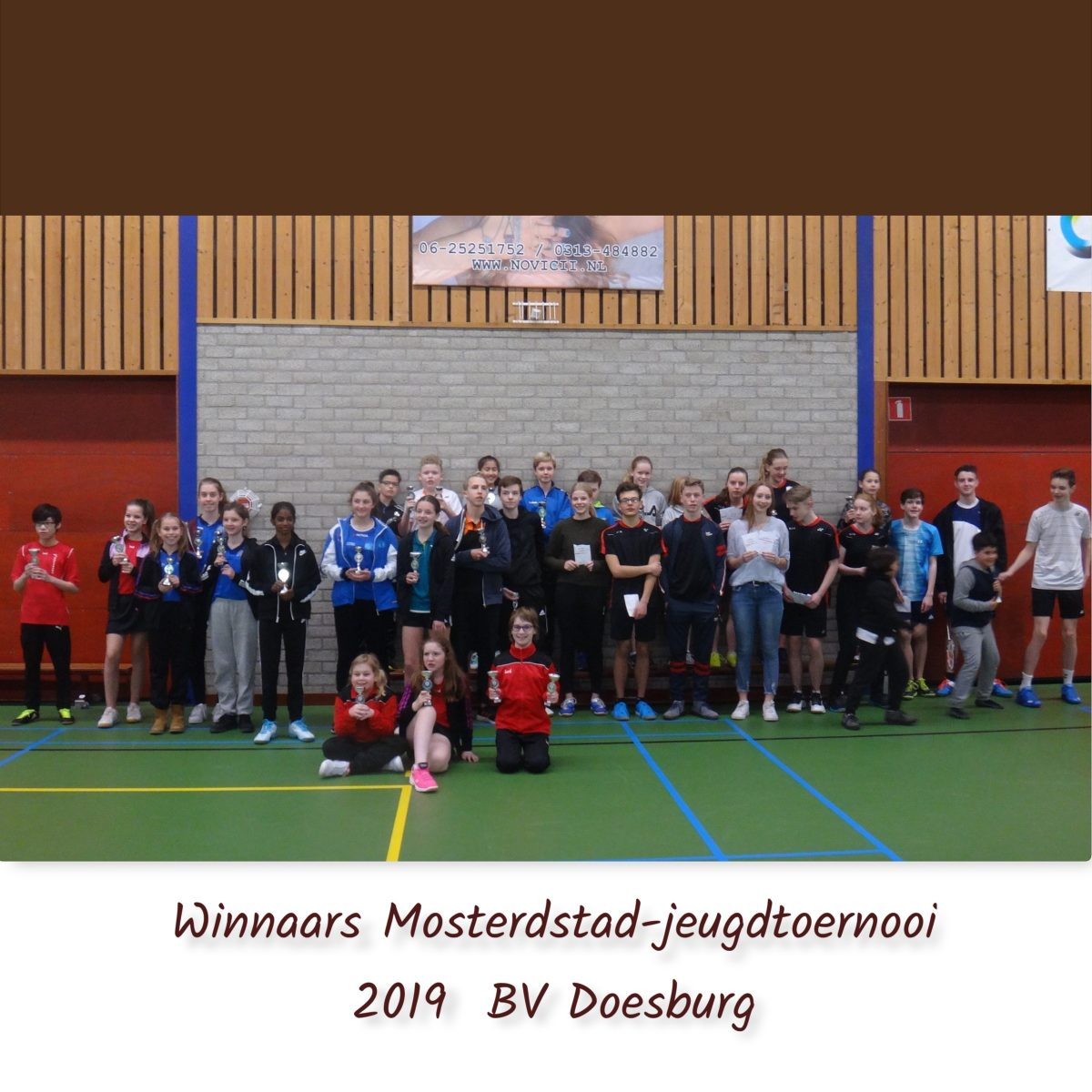 Mosterdstad Jeugdtoernooi 2019 Badminton Vereniging Doesburg